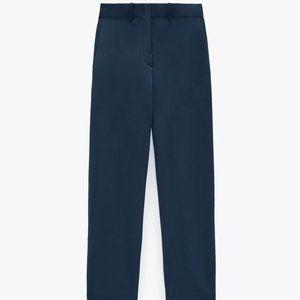 NWT Blue Hi-Rise Wide Leg Pants w/ Side Band, L